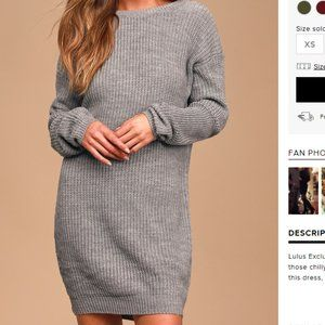 Bringing Sexy Back Grey Backless Sweater Dress